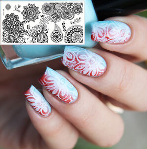 Born Pretty Bp L014 Nail Image Stamping Plate Nail Art Flower