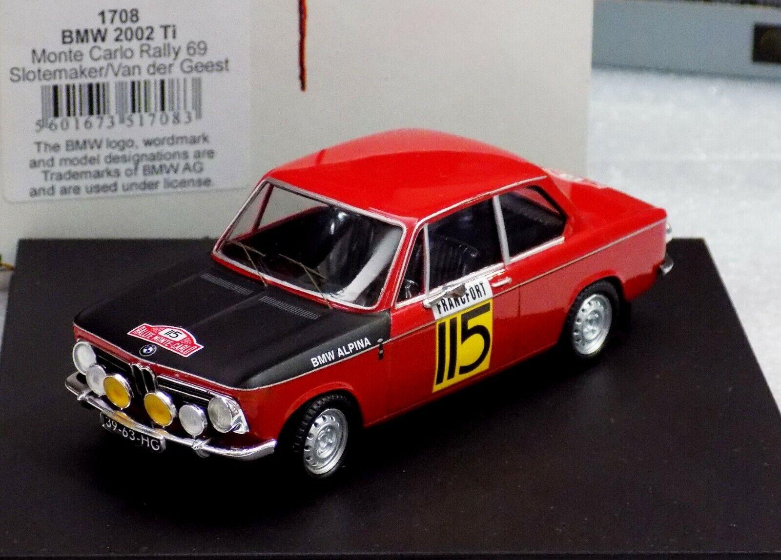 BMW 2002 MONTE CARLO 1969 SLOTEMAKER TROF 43