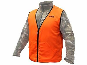 Men's Blaze Orange Vest Hunting Shooting Emergency Safety 2 pockets QUALITY VEST