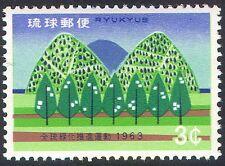 Ryukyus 1963 Trees/Nature/Afforestation/Conservation/Environment 1v (n27596)