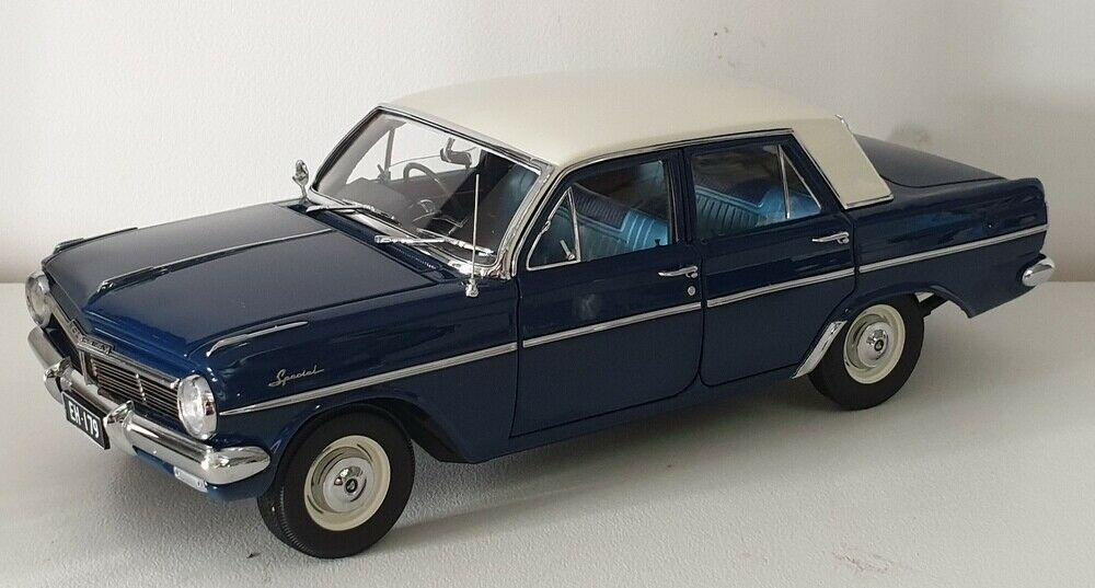 1//18 CLASSIC CARLECTABLE HOLDEN EH SPECIAL SEDAN EDEN BLUE ONLY 750 MADE #18693