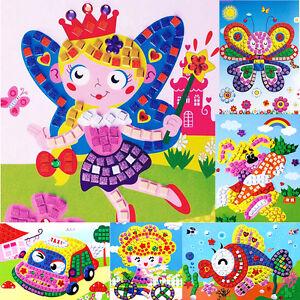 Baby-Kids-Developmental-3D-Crystal-Mosaics-Art-Sticker-Mosaic-Craft-Kit-Toy-Gift