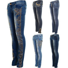 e68c989795687 item 3 Ladies Studded Diamante Ripped Faded Skin Tight Skinny Denim 3 4  Jeans -Ladies Studded Diamante Ripped Faded Skin Tight Skinny Denim 3 4  Jeans