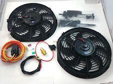 """Dual 14"""" Heavy Duty Electric Fans CFM W/ HD Relay 180/160 SBC BBC Ford Mopar"""