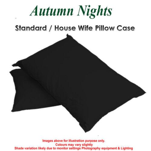 Luxe Uni poly coton femme au foyer simple//Paire lit chambre taies d/'oreiller//Covers