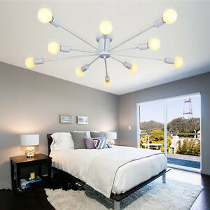 Details about Flush Mount Ceiling Lights Bedroom Lamp Pendant Light White  Chandelier Lighting