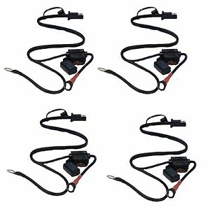 4-x-Quick-Connect-Battery-Tender-Harness-Snap-Cord-Ring-Charger-Terminal-Wire