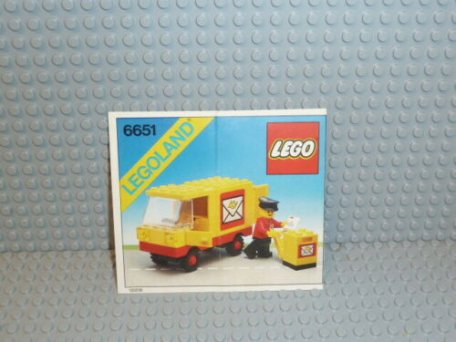 LEGO ® Town Classic recipe 6651 Post Office Van instruction b5472