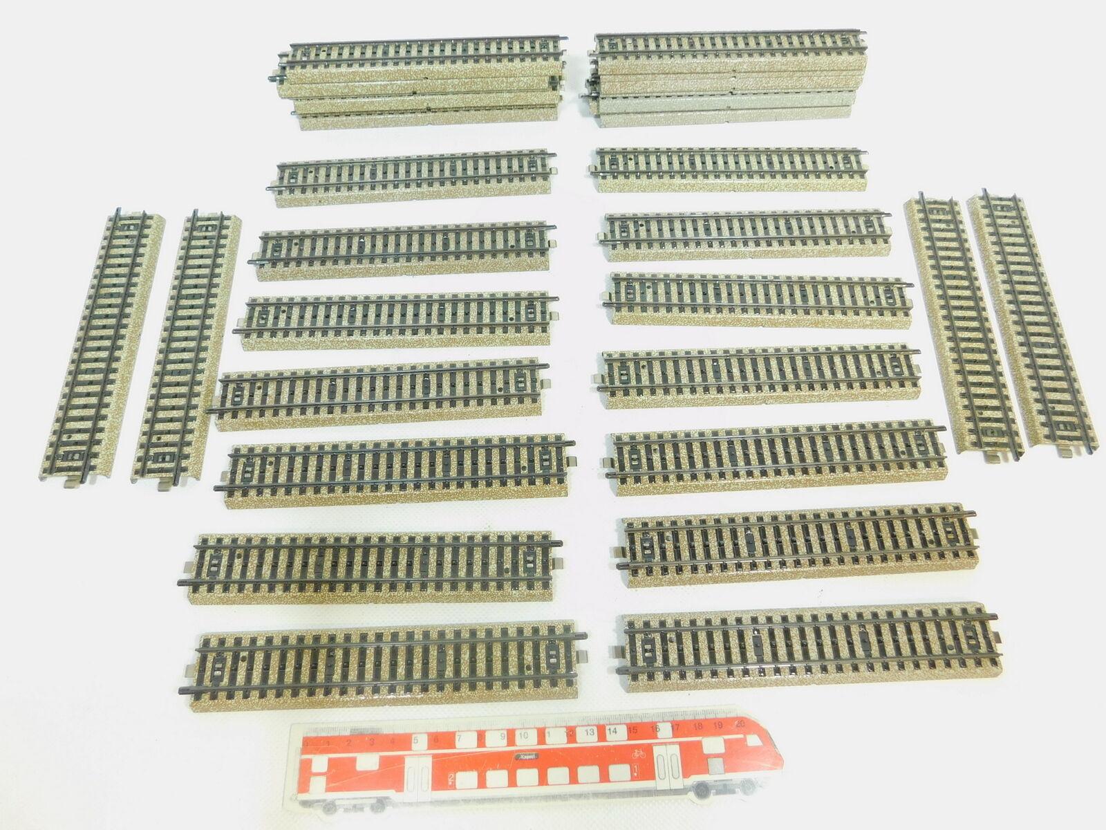 Bn626-2 32x   H0/AC 5106 PEZZO PISTA / ROTAIE DRITTO M PISTA MOLTO BUONO