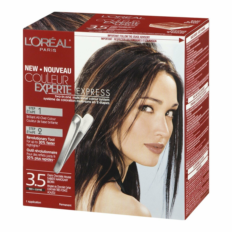 2 Loreal Couleur Experte Express 35 Dark Mahogany Brown Cherry