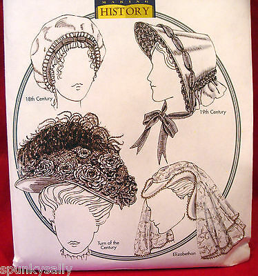 Butterick 4210 HISTORICAL HATS ELIZABETHAN VICTORIAN Sewing Pattern