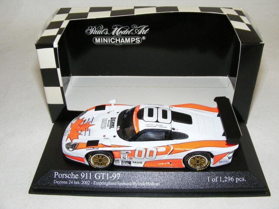 1/43 Minichamps PORSCHE 911 GT1-97 2018 24 horas de Daytona coche 00