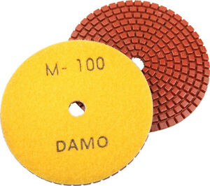"4"" Wet Diamond Polishing Pad Grit 100 for Granite/Concre<wbr/>te/Marble Countertop"