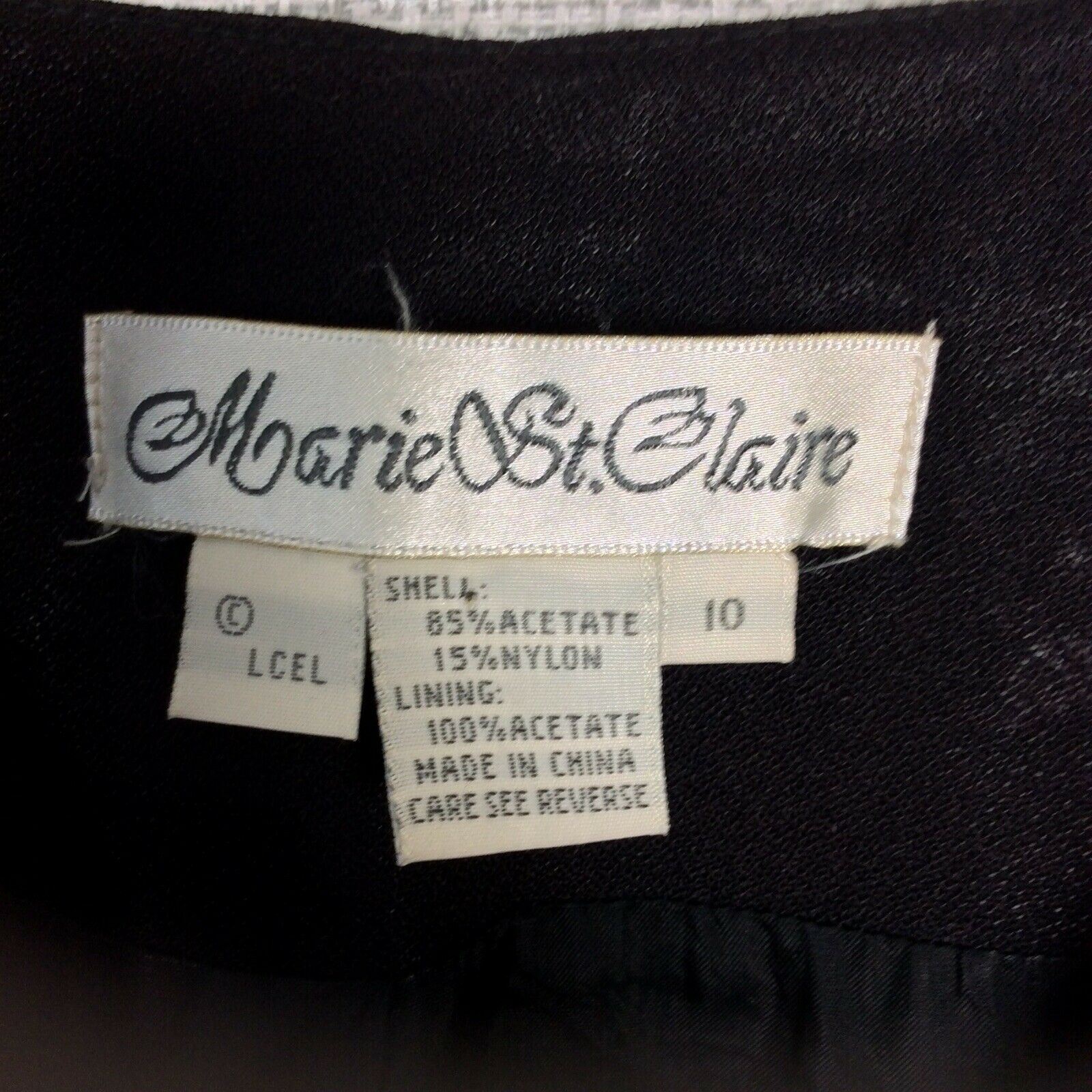 Marie St. Claire Vintage Womens Jacket Black Red … - image 7