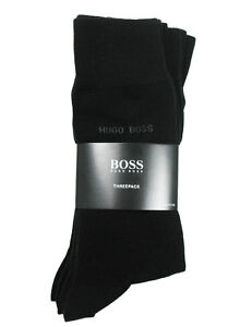 HUGO-BOSS-de-3-Lot-business-chaussettes-47-50-NOIR-COTON