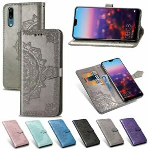 Pour-Huawei-P20-P30-Mate-20-Lite-Mandala-cuir-Flip-Stand-Carte-Portefeuille-TPU-Housse
