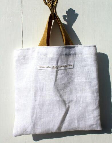 Mini sac Tote bag lin  fait main France