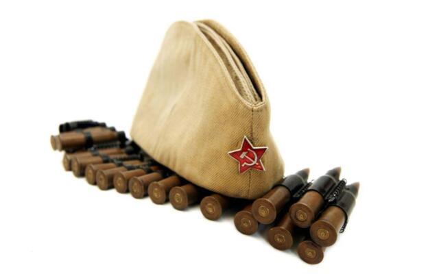 1feb068b5d9 USSR Russian Military Garrison cap field forage WW2 hat PILOTKA Red Star  RKKA