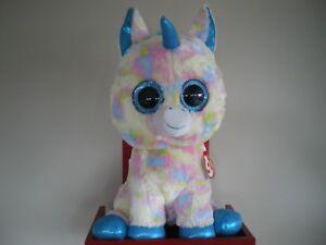 Ty Beanie Boos BLITZ unicorn 17 inch NWMT.LARGE 40cm.FREE ... c01b7fe0cf2e