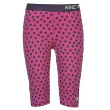 NIKE PRO short tight  FIT TRAINING LEGGINGS size 10 12 MEDIUM  PINK PURPLE SPOT