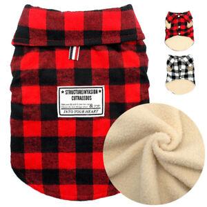 British-Plaid-Winter-Dog-Coat-Christmas-Pet-Puppy-Cat-Fleece-Jacket-Warm-Clothes