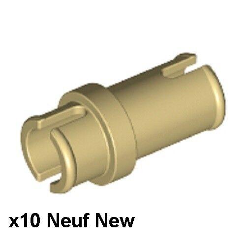 Lego Technic 10 connecteurs beiges Neufs Tan pins 3//4 NEW REF 32002