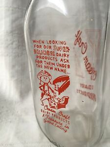Quart Milk Bottle Cream Craft Dairy Product Pennsylvania New York Pirate Chest