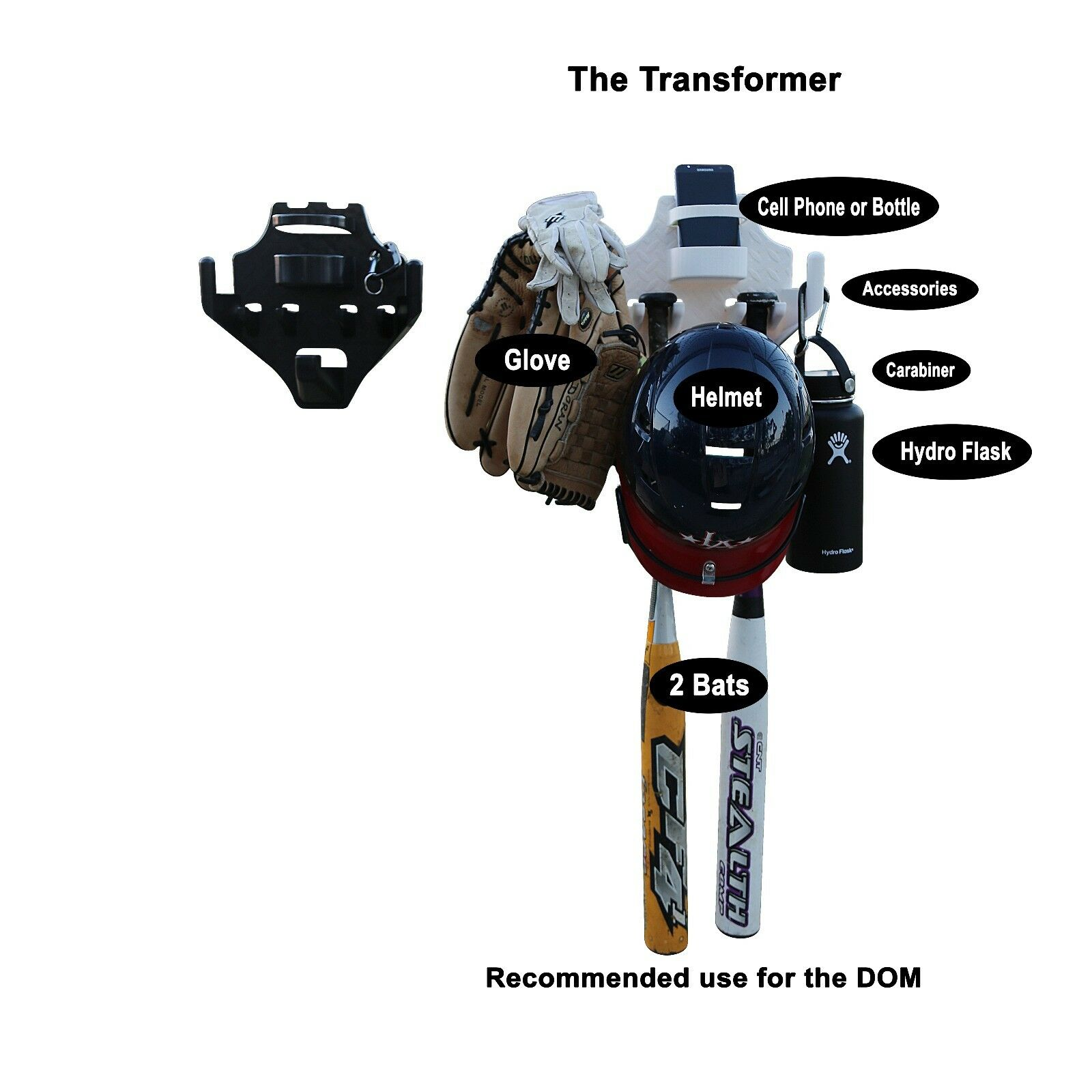 SOFTBALL BASEBALL BAT HELMET GLOVE HOLDER THE TRANSFORMER DOM TRANSFORMER THE ( 11 count ) ce5bb4