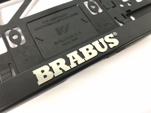 Brabus matrícula amplificador set negro con logotipo Brabus