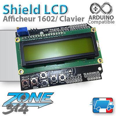 Shield Afficheur LCD 1602 + Clavier Arduino (rétroéclairage Bleu ou Jaune )