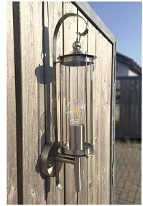 Aussenleuchte-Wandlampe-Aussenlampe-Wandleuchte-Edelstahl-Glas-Laterne-E27-H1
