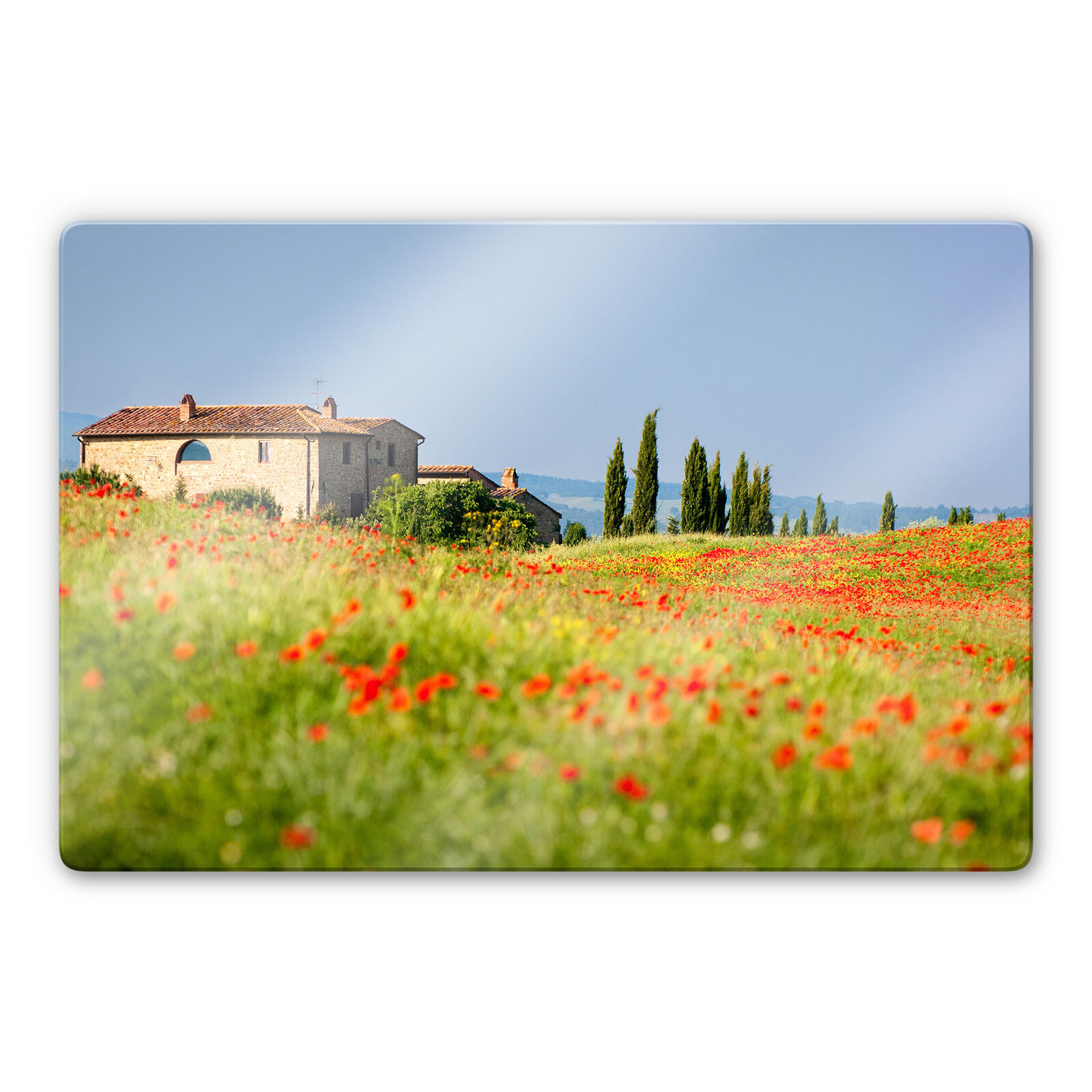 Glass Picture Tuscany Couleurful ESG safety glass SCRATCHPROOF Deco