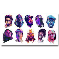 24x36 21 Savage Rap Rapper Hip Hop Music Star Singer Top Fabric Poster Art TY131