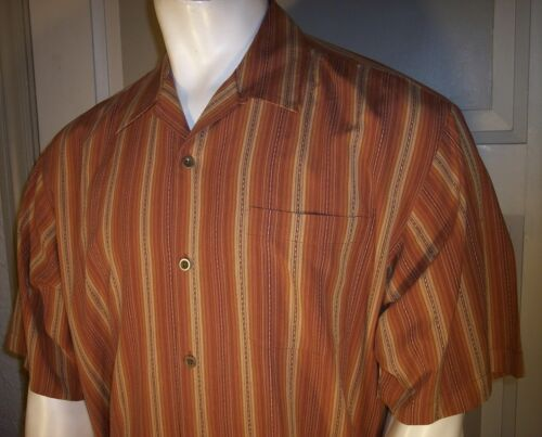 """Silk Casual Button-Front Camp Shirts Width=24-25.5/"""" Tommy Bahama sz Large"""