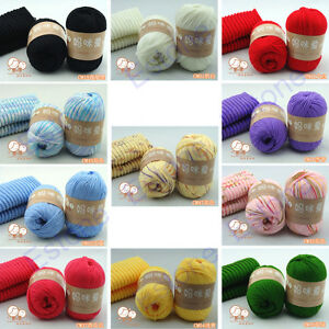 1-Skein-50g-High-Quality-Natural-Silk-Cotton-Baby-Sweater-Soft-Yarn-Knitting-Hot