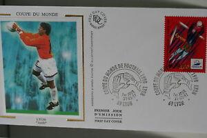 ENVELOPPE-PREMIER-JOUR-SOIE-1997-COUPE-MONDE-FOOTBALL