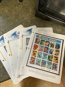 DC comics super heroes. United States Postage stamps 2006   4 Pages Full.