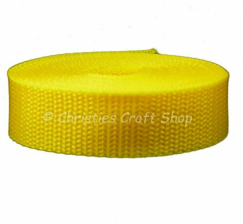 5m 10m or 50m Choice of Colours Polypropylene Strap Webbing 20mm /& 25mm