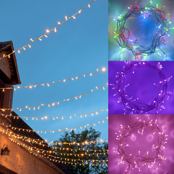 24m 40m 64m conectable Interior exterior conectable Led De Navidad Luces Navideñas 24v