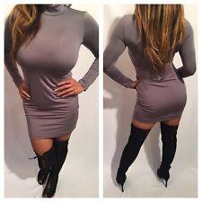 Connie's Gray Long sleeve Mock Neck Mini Dress Party Dress XL