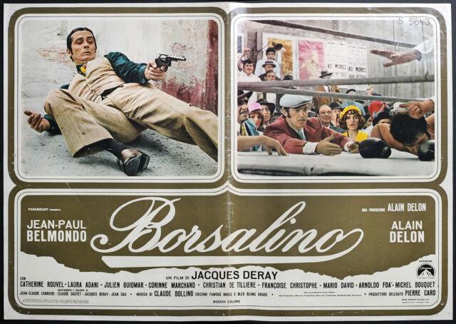 Cine-fotobusta BORSALINO a. delon, belmondo, J. DERAY