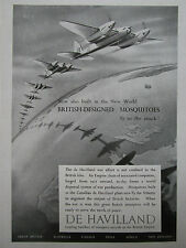 8/1944 PUB DE HAVILLAND MOSQUITO WAR EFFORT CANADA BRITISH EMPIRE ORIGINAL AD
