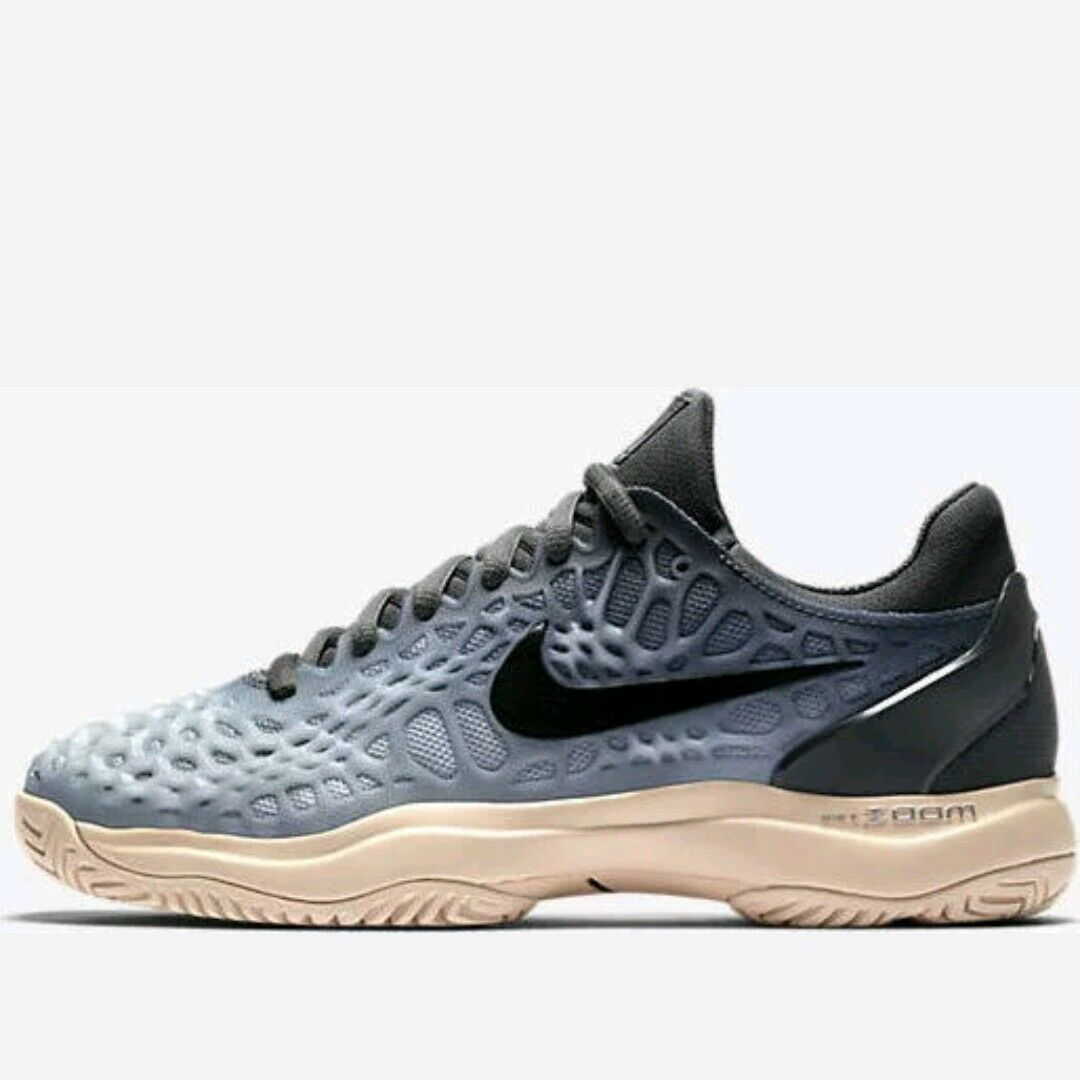 Nike Air Zoom Cage 3 HC Women's Sneakers Tennis Shoes 918199 001 dk grey size 6