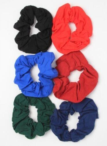 Scrunchie Pack of 6 School Work Sport Fashion Festival Sequin Fabric Velvet