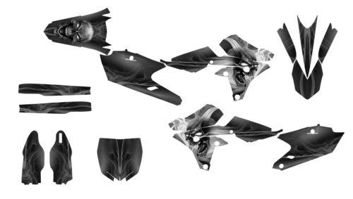 YZ250F YZ450F 2014 2015 2016 2017 Graphics decal kit #6666 Gray Metal Skull