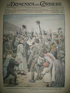 ROI-VICTOR-EN-LOMBARDIE-REGIMENT-HIGHLANDERS-LA-DOMENICA-DEL-CORRIERE-1918