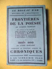 CHRONIQUES N°3 MARITAIN HARLAIRE COCTEAU GUILLOUX  JACOB JAMMES REVERDY PLON
