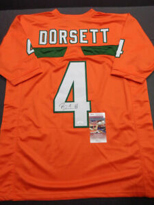 Details about Phillip Dorsett Miami Hurricane Autographed Custom Orange Jersey w/JSA COA