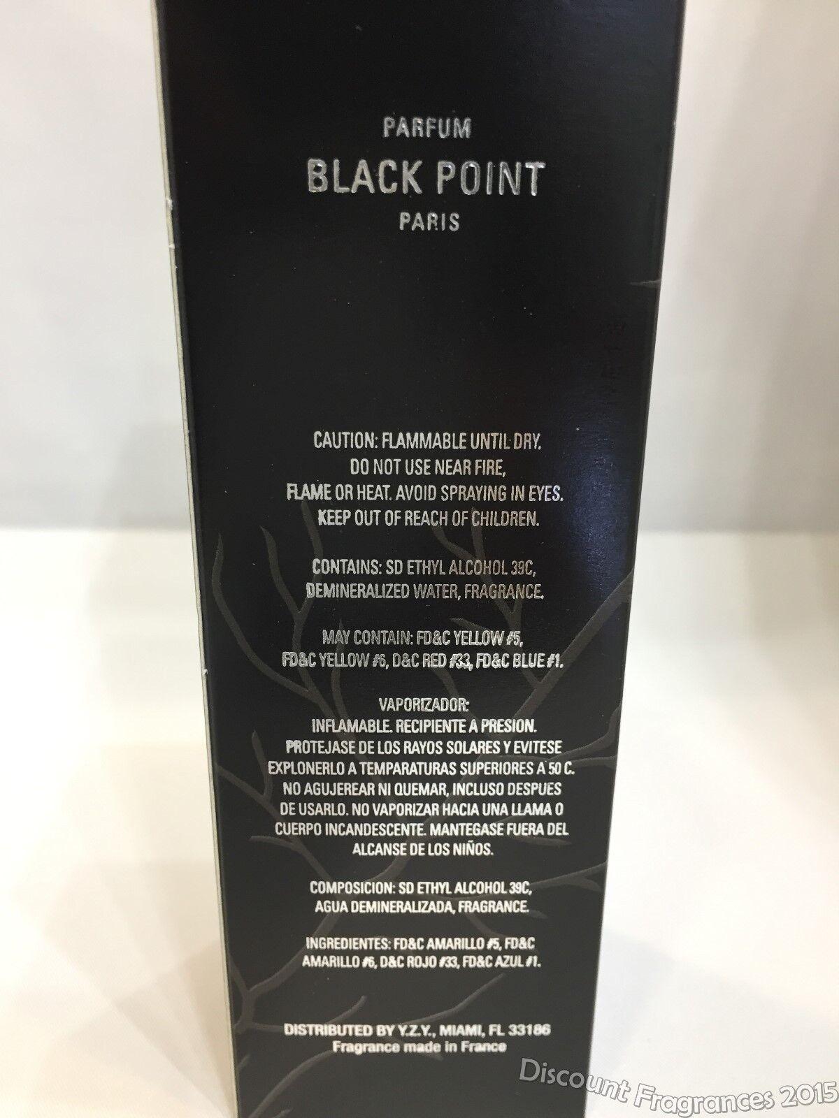 Black Point Cologne by Yzy Perfume, 3.4 oz Eau De Parfum Spray For Men New