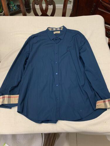 Burberry teal men's shirt, XXXL